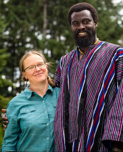 Prarie Rose Hyde and Olowo-n'djo Tchala, founders of Alaffia.