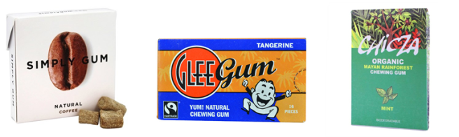 Chewing gum made from chicle