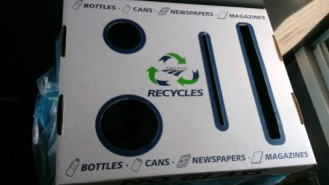 Recycling on train - Amtrak does a pretty good job at waste minimization.