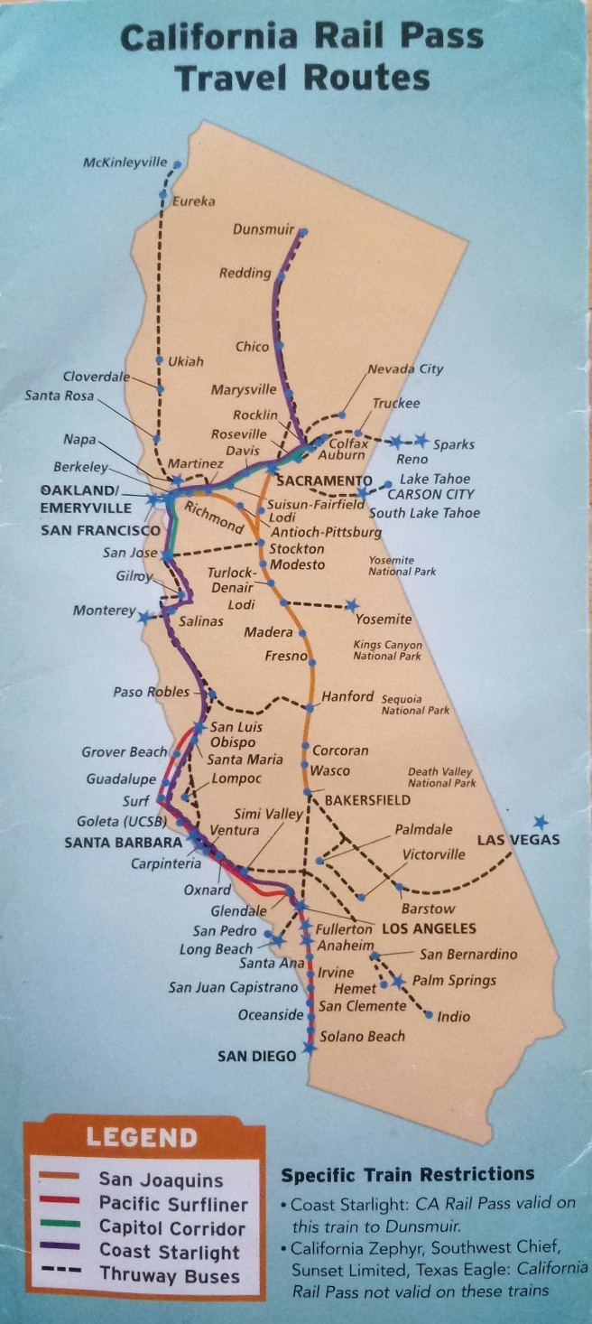 California Rail Pass - Routes V2