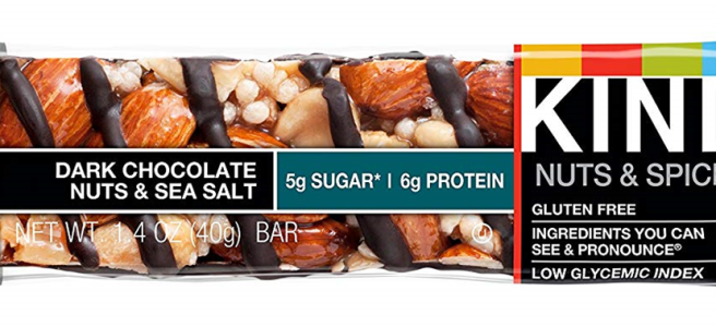 A Kind bar: dark chocolate, nuts and sea salt variety.