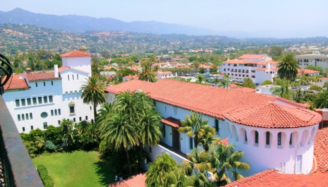 View of Santa Barbara from the County Courthouse