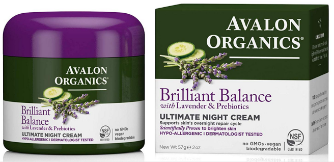 Avalon Organics Brilliant Balance night cream